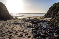 Doud Creek empties onto Garrapata Beach, Big Sur, CA. Dawn Page/CoastsideSlacking