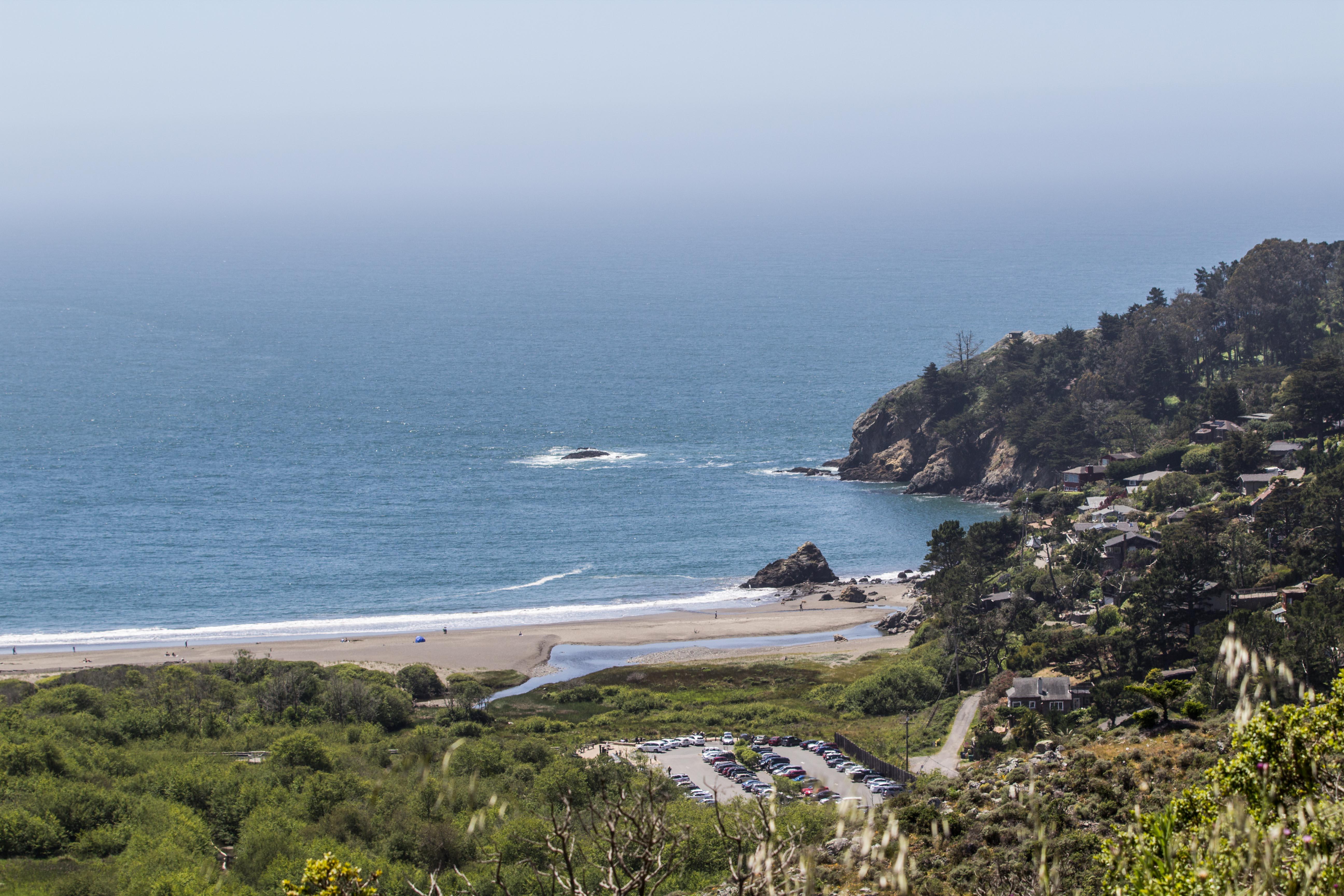 Muir Beach from Dias Ridge Trail. Dawn Page/CoastsideSlacking