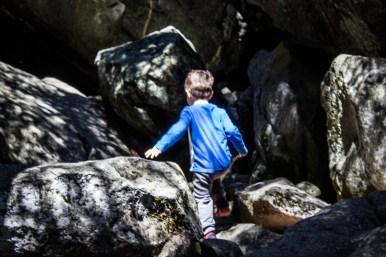 On the Trail to Yosemite Falls. Dawn Page/Coastside Slacking