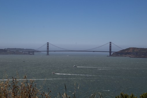 Golden Gate Bridge from Angel Island State Park. Dawn Page/CoastsideSlacking