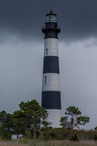 Storm approach at Bodie Island Lighthouse. Dawn Page/CoastsideSlacking