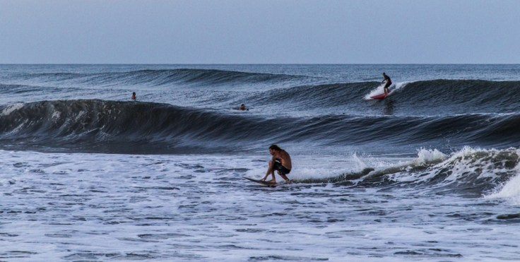 Surfers at twilight, Kitty Hawk, NC. Dawn Page/CoastsideSlacking
