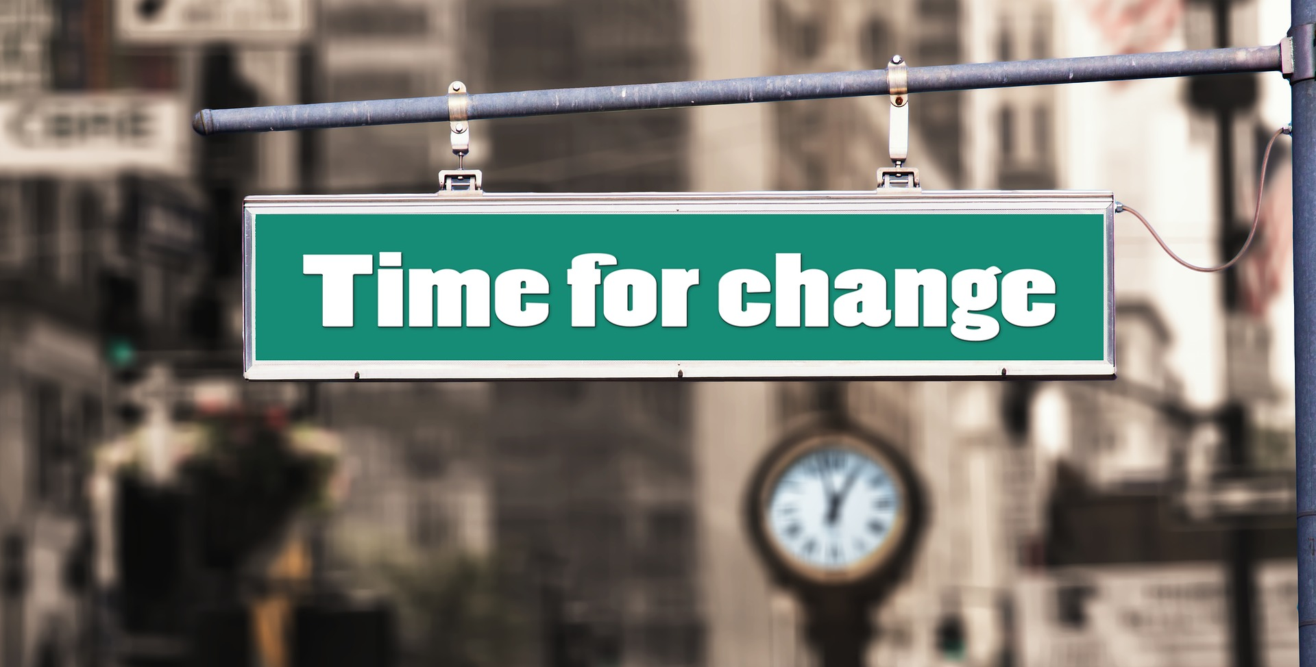 "Image: ""Time for Change"" sign"
