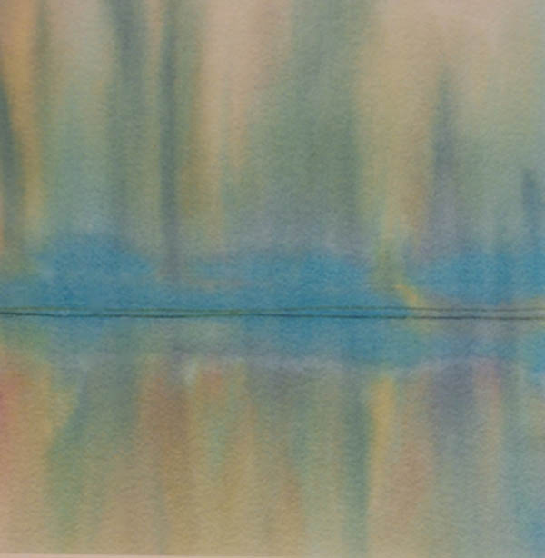 Jane Lynas River Reflections 45x45cm; Inks on paper £280