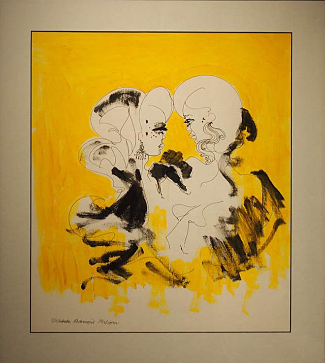 Lizzie Milsom Headlines 60x55cm; Acrylics, inks £75
