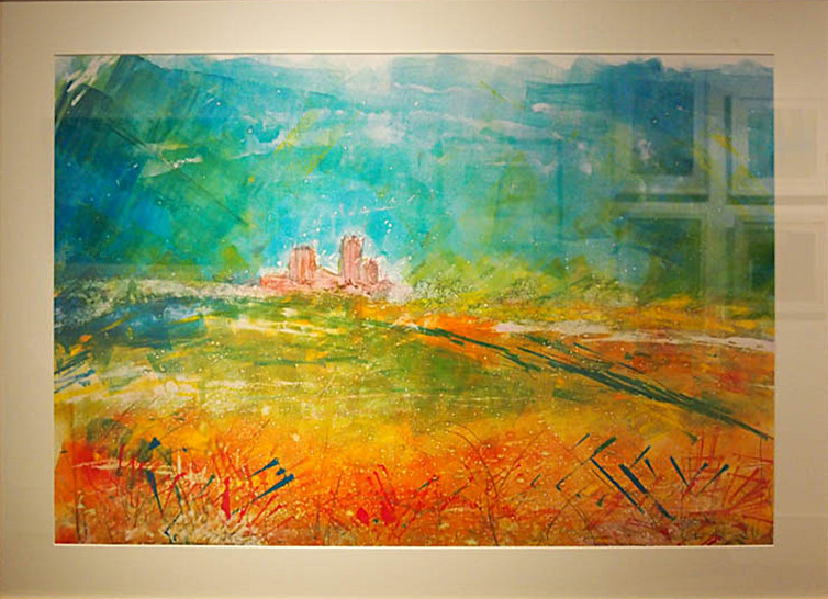 Barbara Grafton Ship of the Fens 75x100cm; Monotype £600