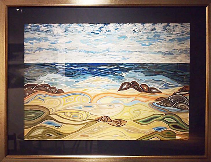 Veronica Taylor Shoreline 82x105cm; Gouache £285