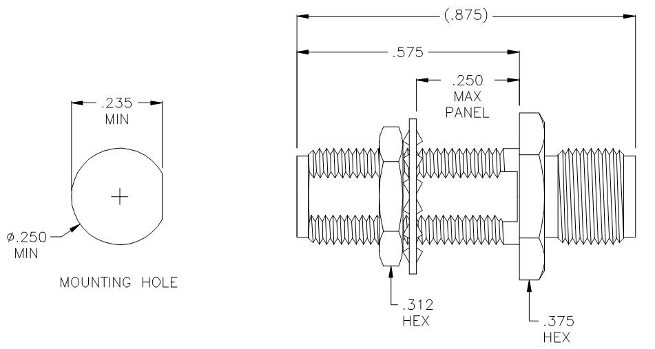 3209A-9 SMA Straight Female to Female Bulkhead Adapter