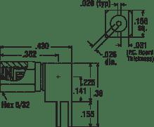 SSMC Right Angle Female Plug Type PCB Receptacle Edge