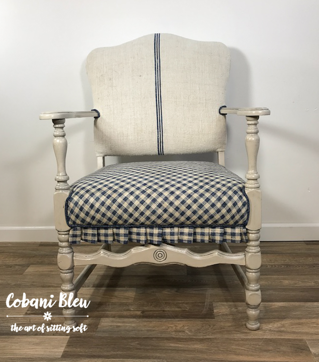 Grain Sack Chair How To Rock A Grainsack And Gingham Chair Cobani Bleu