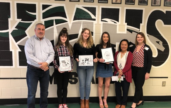 Kennesaw Mountain High School Students Win CCFB Art Contest