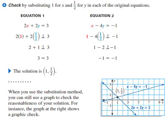 System Of Equations Substitution Examples