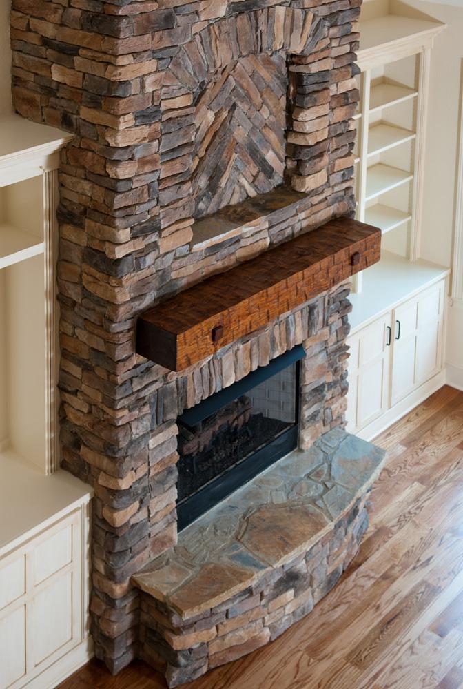 living room fireplaces light in craftsman homes - mooresville custom home builder