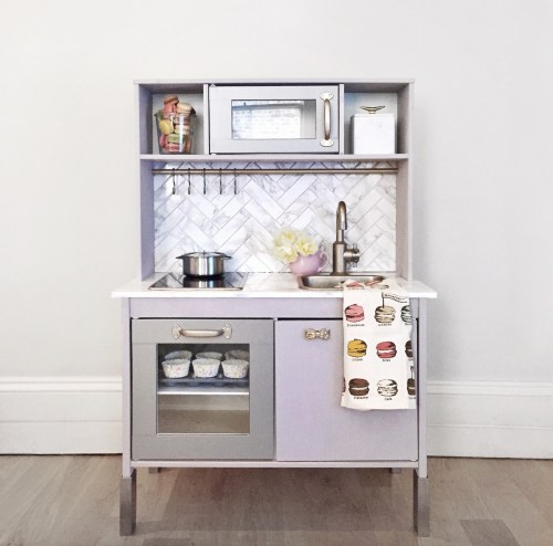 i wanted to do something a little special and since shed been loving the real kitchenso i tried a face lift on the ikea duktig play kitchen and was - Ikea Play Kitchen