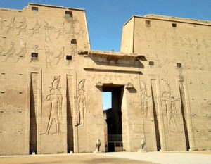 The temple at Edfu along the Nile River