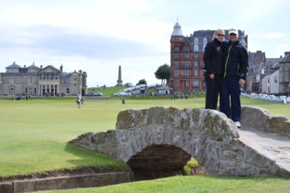 Standing on the Swilcan Bridge at St. Andrews