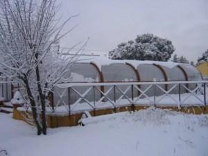 Cubierta piscina resistente a la nieve