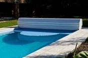 Cubierta piscina de PVC azul
