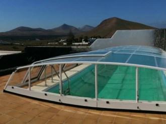 Cubierta baja para piscina Ibiza