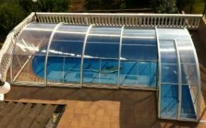 Cubierta piscina a dos anchuras