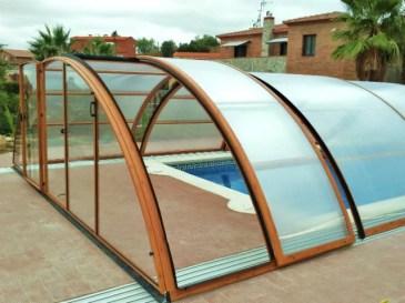 Cubierta piscina en madera