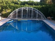 Cubierta de la piscina móvil