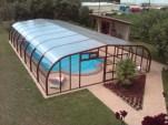 Cobertura alta de piscina