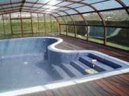 Cubierta de madera para piscina
