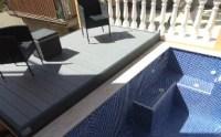 Terraza móvil y cubierta de piscina en uno