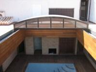Estructura resistente al viento para terraza o ático
