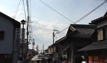 福岡木屋瀬の蚤の市風景