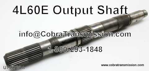 "4L60/65E, Output Shaft, 4L60E, 4L65E 13.250"" Long (4wd"