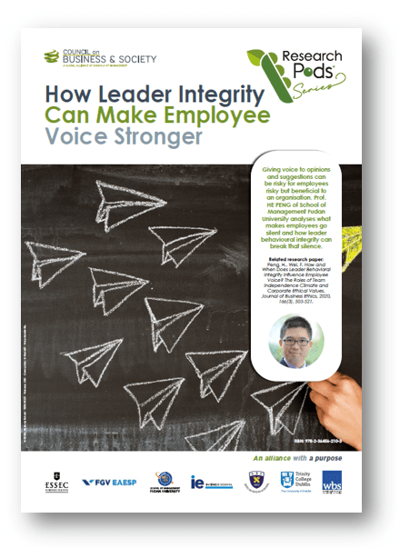 Prof. He Peng of School of Management Fudan University takes us through what makes employees go silent and how leadership behaviour and integrity can break that silence to foster employee voice and participation.