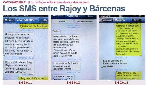 14. Bárcenas no caía por el apoyo de Rajoy (El Mundo)