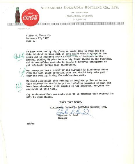 History of Alexandria CocaCola  CocaCola Bottling
