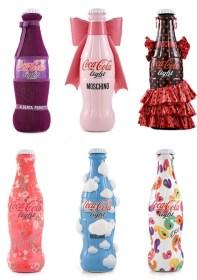 Bouteilles de Coca-Cola Light habillées par des créateurs