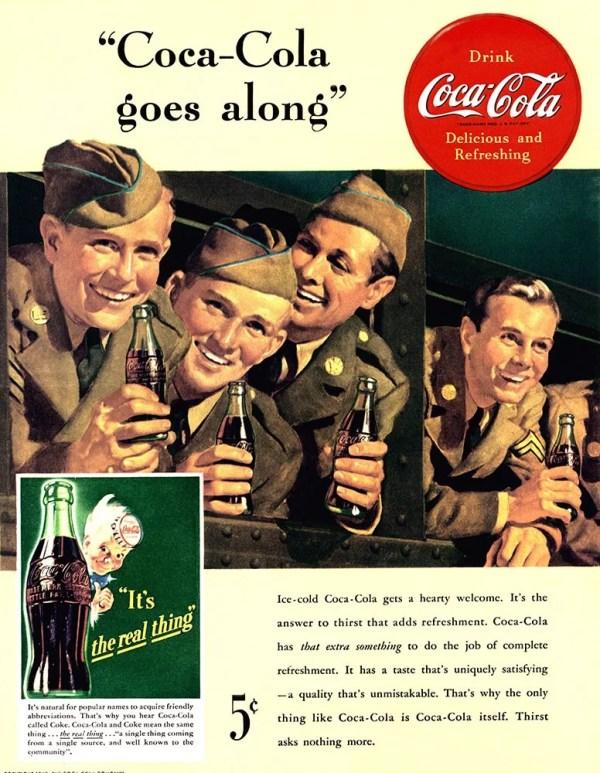 Publicité Coca-Cola 1942