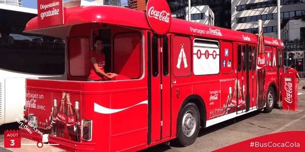 Découvrez les dates de la tournée du bus Coca-Cola