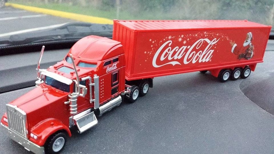 Le camion Coca-Cola disponible en France chez Casino