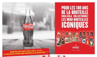 Mini-bouteilles de Coca-Cola chez Auchan