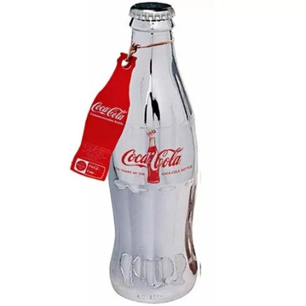Coca-Cola 100 Years Limited Edition Silver Bottle