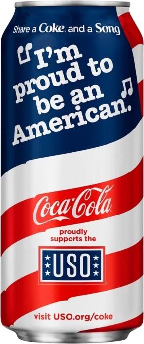 La canette patriotique de Coca-Cola