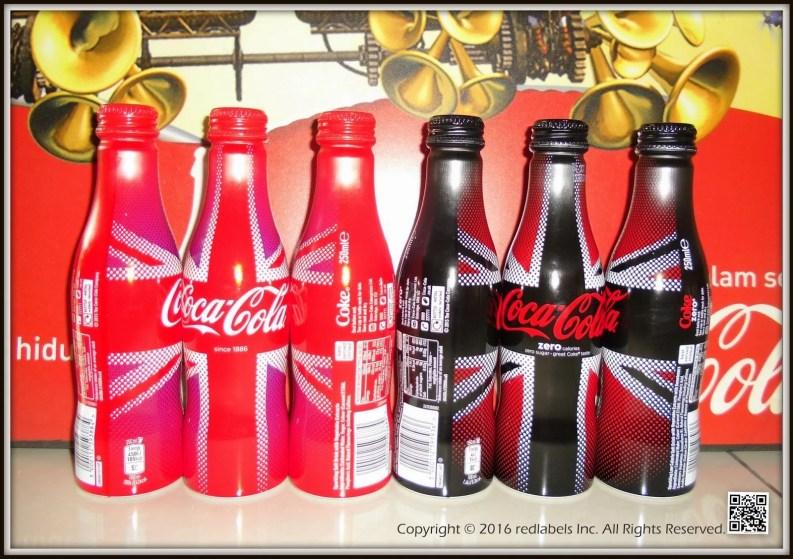Bouteilles Coca-Cola / Union Jack