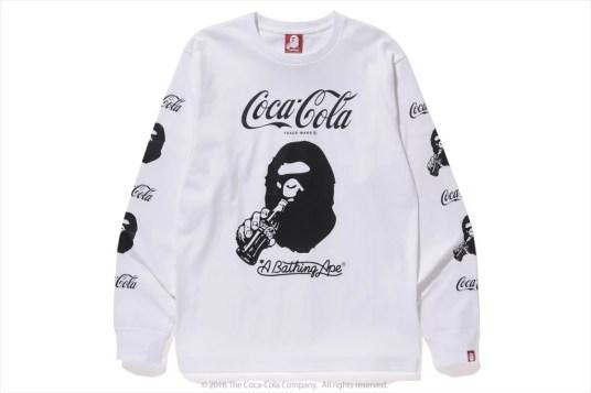 Tee-shirt manches longues Bape x Coca-Cola