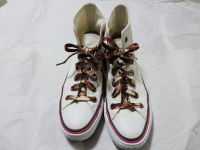 セリア 伸びる靴紐 ハイカット