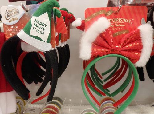 セリア クリスマス カチューシャ