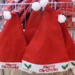 キャンドゥのクリスマス衣装や帽子・カチューシャ。サンタヒゲもあるよ!