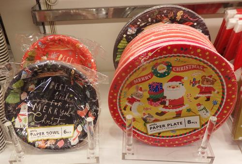 キャンドゥ クリスマス 紙皿
