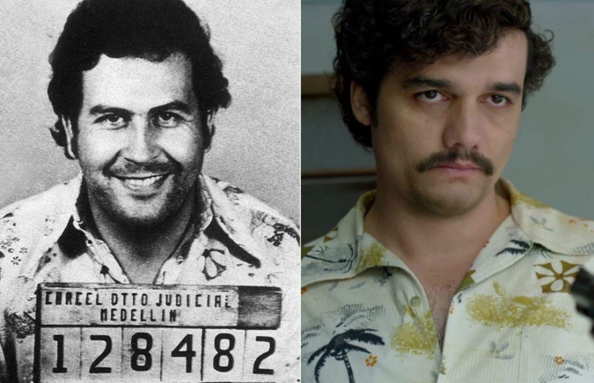 Pablo Escobar y otros personajes de 'Narcos' en la vida real