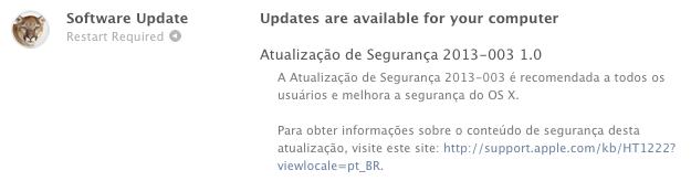 Photo of Security Update 20013-003 na Área